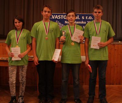 Medailisté v kategorii do 16ti let (Radek vpravo) ZDROJ: VSKM
