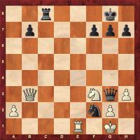 Bílý zahrál 27. Dc2 jak černý využije nepřesnosti bílého?